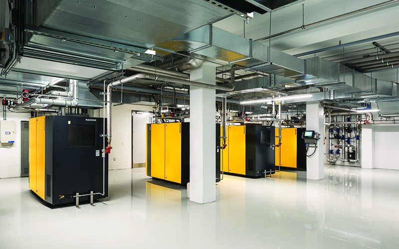 Starlim production area, with yellow and black machines in the center.